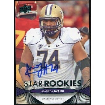 2012 Upper Deck Rookie Autographs #52 Alameda Ta'amu Autograph