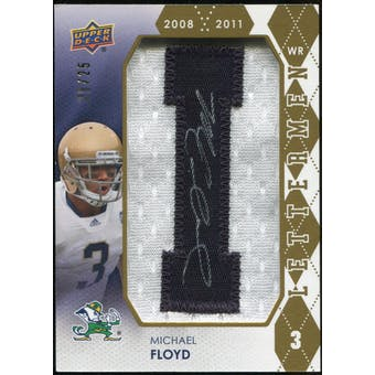2012 Upper Deck Rookie Lettermen Autographs #RLMF1 Michael Floyd*/serial #'d to 25,/letters spell FIGHTING IRI