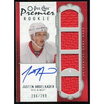 2008/09 Upper Deck OPC Premier #54 Justin Abdelkader RC Jersey Autograph /299