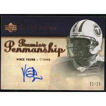 2007 Upper Deck Premier Penmanship Autographs Bronze #PPVY Vince Young Autograph /25