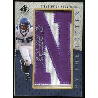 2007 Upper Deck SP Authentic By The Letter Autographs #BTLSH1 Steve Hutchinson Autograph /90