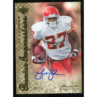 2007 Upper Deck Premier Impressions Autographs Gold #PILJ Larry Johnson Autograph /50