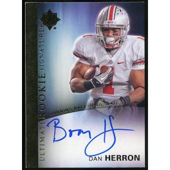 2012 Upper Deck Ultimate Collection Rookie Autographs #6 Dan Herron Autograph