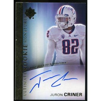 2012 Upper Deck Ultimate Collection Rookie Autographs #12 Juron Criner Autograph