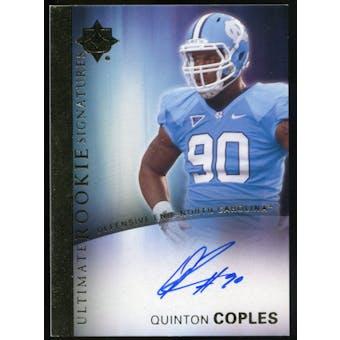 2012 Upper Deck Ultimate Collection Rookie Autographs #18 Quinton Coples Autograph