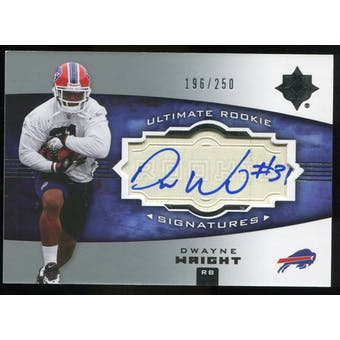 2007 Upper Deck Ultimate Collection #140 Dwayne Wright RC Autograph /250