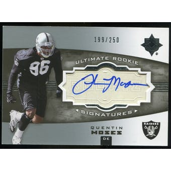 2007 Upper Deck Ultimate Collection #153 Quentin Moses RC Autograph /250