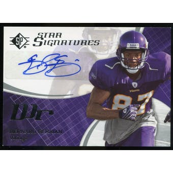 2008 Upper Deck SP Authentic SP Star Signatures #SPSS11 Bernard Berrian Autograph