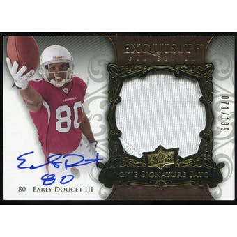 2008 Upper Deck Exquisite Collection #150 Early Doucet RC Jersey Autograph /199