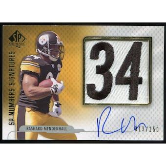 2008 Upper Deck SP Authentic SP Numbers Signatures #NPRM Rashard Mendenhall Autograph /150