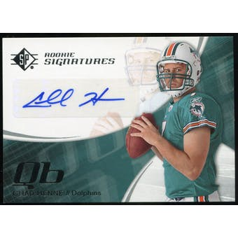2008 Upper Deck SP Authentic Retail #142 Chad Henne RC Autograph