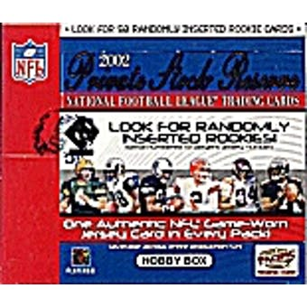 2002 Pacific Private Stock Reserve Football Hobby Box