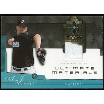2005 Upper Deck Ultimate Collection Materials #BU A.J. Burnett Jersey /25