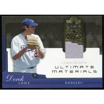 2005 Upper Deck Ultimate Collection Materials #DL Derek Lowe Jersey /25