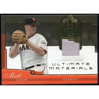 2005 Upper Deck Ultimate Collection Materials #MA Matt Cain Jersey /25