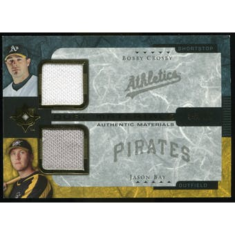 2005 Upper Deck Ultimate Collection Dual Materials #CB Bobby Crosby/Jason Bay Jersey /15
