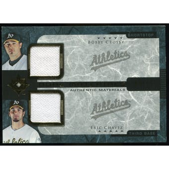 2005 Upper Deck Ultimate Collection Dual Materials #CC Bobby Crosby/Eric Chavez Jersey /15