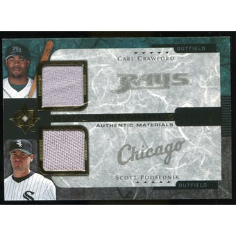 2005 Upper Deck Ultimate Collection Dual Materials #CP Carl Crawford/Scott Podsednik Jersey /15
