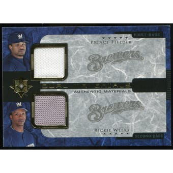 2005 Upper Deck Ultimate Collection Dual Materials #FW Prince Fielder Rickie Weeks Jersey /15