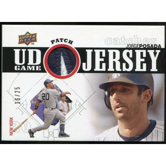 2010 Upper Deck UD Game Patch #PO Jorge Posada 16/25