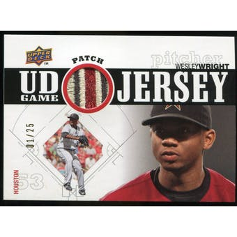 2010 Upper Deck UD Game Patch #WW Wesley Wright 1/25