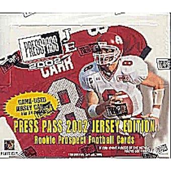 2002 Press Pass Jersey Edition Football Hobby Box
