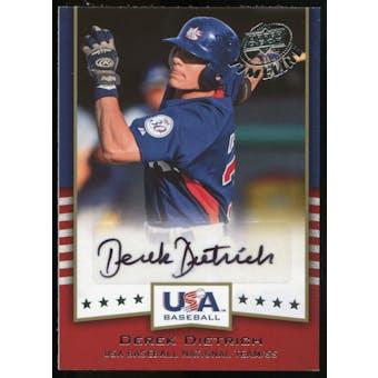 2008 Upper Deck Timeline Team USA Signatures #DD Derek Dietrich Autograph