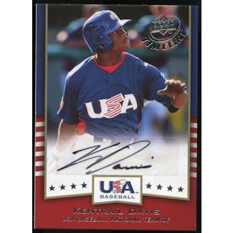 2008 Upper Deck Timeline Team USA Signatures #KD Kentrail Davis Autograph