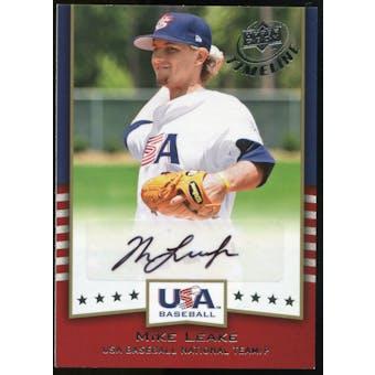 2008 Upper Deck Timeline Team USA Signatures #ML Mike Leake Autograph