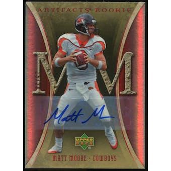 2007 Upper Deck Artifacts Rookie Autographs #134 Matt Moore Autograph /30