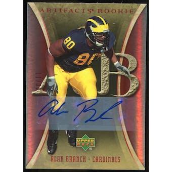 2007 Upper Deck Artifacts Rookie Autographs #153 Alan Branch Autograph /30