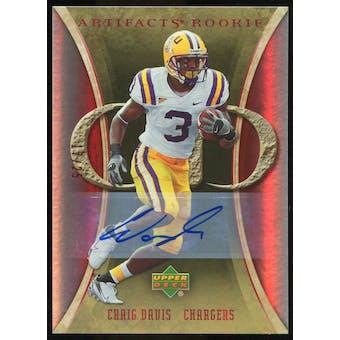 2007 Upper Deck Artifacts Rookie Autographs #165 Craig Buster Davis Autograph /25