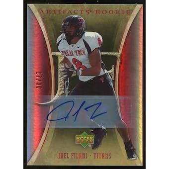 2007 Upper Deck Artifacts Rookie Autographs #177 Joel Filani Autograph /30