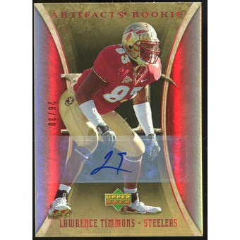 2007 Upper Deck Artifacts Rookie Autographs #183 Lawrence Timmons Autograph /30