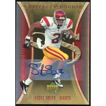 2007 Upper Deck Artifacts Rookie Autographs #195 Steve Smith USC Autograph /25