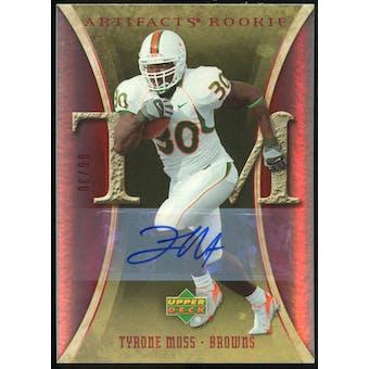 2007 Upper Deck Artifacts Rookie Autographs #199 Tyrone Moss Autograph /30