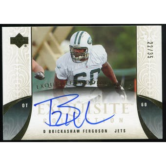 2006 Upper Deck Exquisite Collection Endorsements #EEDF D'Brickashaw Ferguson Autograph /35