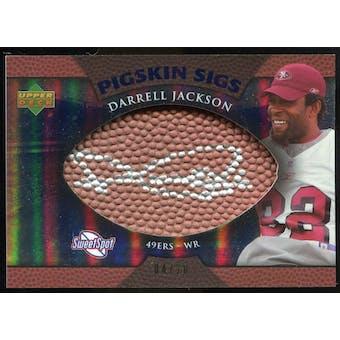 2007 Upper Deck Sweet Spot Pigskin Signatures Blue 20 #JA Darrell Jackson Autograph /20