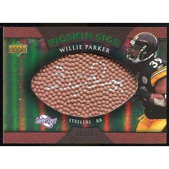 2007 Upper Deck Sweet Spot Pigskin Signatures Green 50 #WP Willie Parker Autograph /50