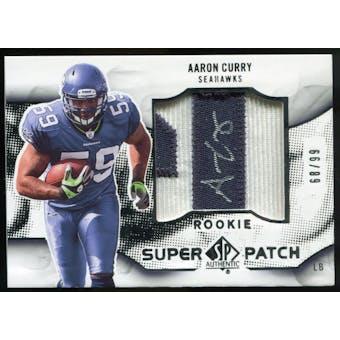2009 Upper Deck SP Authentic Rookie Super Patch Autographs #RSPAC Aaron Curry Autograph /99