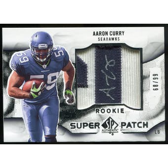 2009 Upper Deck SP Authentic Rookie Super Patch Autographs #RSPAC Aaron Curry Autograph /99