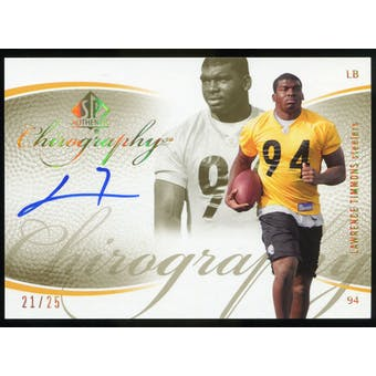 2007 Upper Deck SP Authentic Chirography Gold #CALT Lawrence Timmons Autograph /25