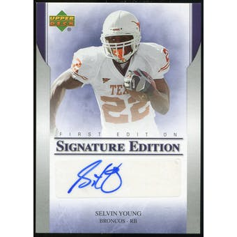 2007 Upper Deck First Edition Autographs #SESY Selvin Young Autograph