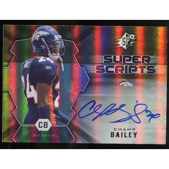 2007 Upper Deck SPx Super Scripts Autographs #SSCB Champ Bailey Autograph