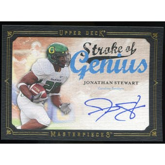 2008 Upper Deck UD Masterpieces Stroke Of Genius Autographs #SOG53 Jonathan Stewart SP Autograph