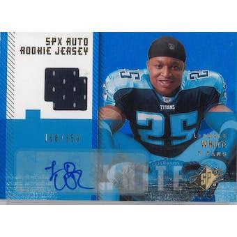 2006 Upper Deck SPX Football #188 LeDale White Auto Rookie Jersey #/350