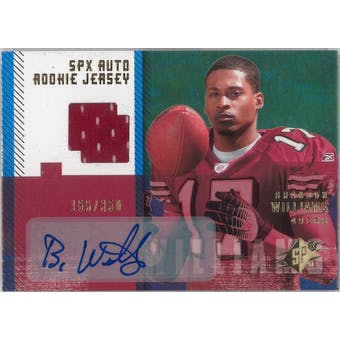 2006 Upper Deck SPX Football #194 Brandon Williams Auto Rookie Jersey #/350