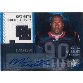 2006 Upper Deck SPX Football #213 Mario Williams Auto Rookie Jersey #/1650