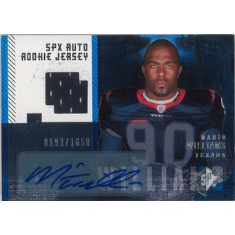 2006 Upper Deck SPX Football #213 Mario Williams Auto Rookie Jersey #/1650