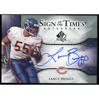 2009 Upper Deck SP Authentic Sign of the Times #STLB Lance Briggs Autograph